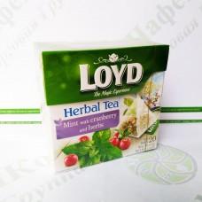 Чай в пірамідках Loyd, м'ята, журавлина і трави, 2г*20шт. (20)