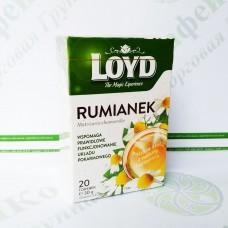 Чай в квадратних пакетиках Loyd Ромашка, 1,5 г*20шт. (6)
