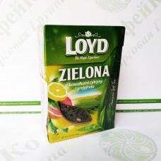 Чай листовой LOYD Zielona, лимон и грейпфрут 80г (10)