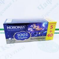 Чай Мономах 1001 Nights 1001 Ніч чорний+зелений 40+5*1,5 г