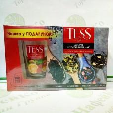 Чай TESS Набор 4*25п с чашкой (6)