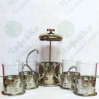 Press teapot UNIQUE UN-1155 + 4 cups