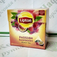Чай Lipton Passion Raspberry 20*1,6г черн. пирамидки (12)